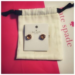 New Kate Spade Light Peach Stud Earring